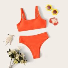 Maedchen Bikini Badeanzug mit verstellbarem Riemen