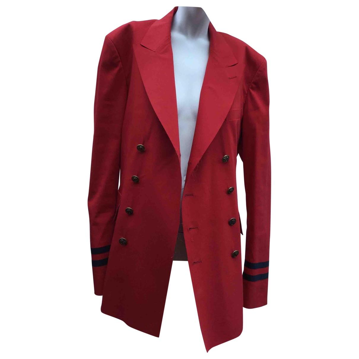 Chaqueta en Algodon Rojo Gucci