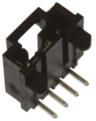 Molex , SL, 70555, 4 Way, 1 Row, Right Angle PCB Header (5)