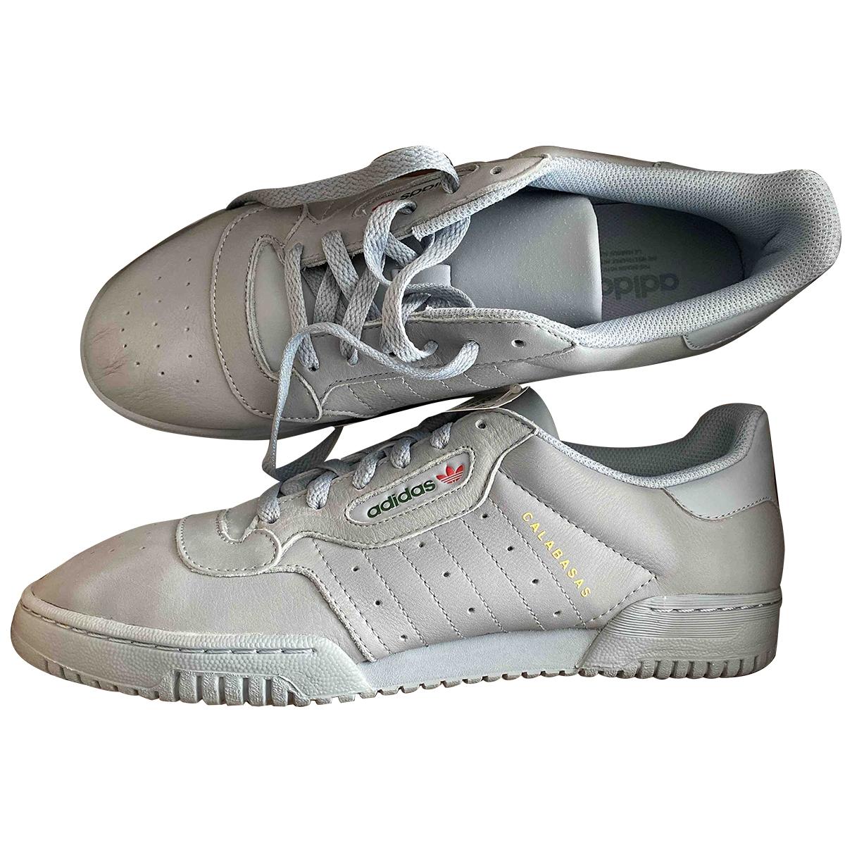 Yeezy X Adidas - Baskets POWERPHASE pour homme en cuir - gris