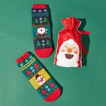 1pc Blind Christmas Bag With Random 2pairs Ankle Socks