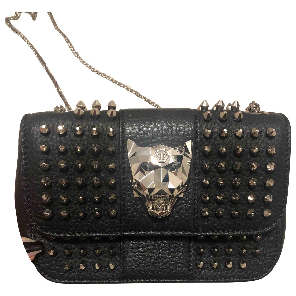 Philipp Plein N Black Leather Clutch bag for Women N