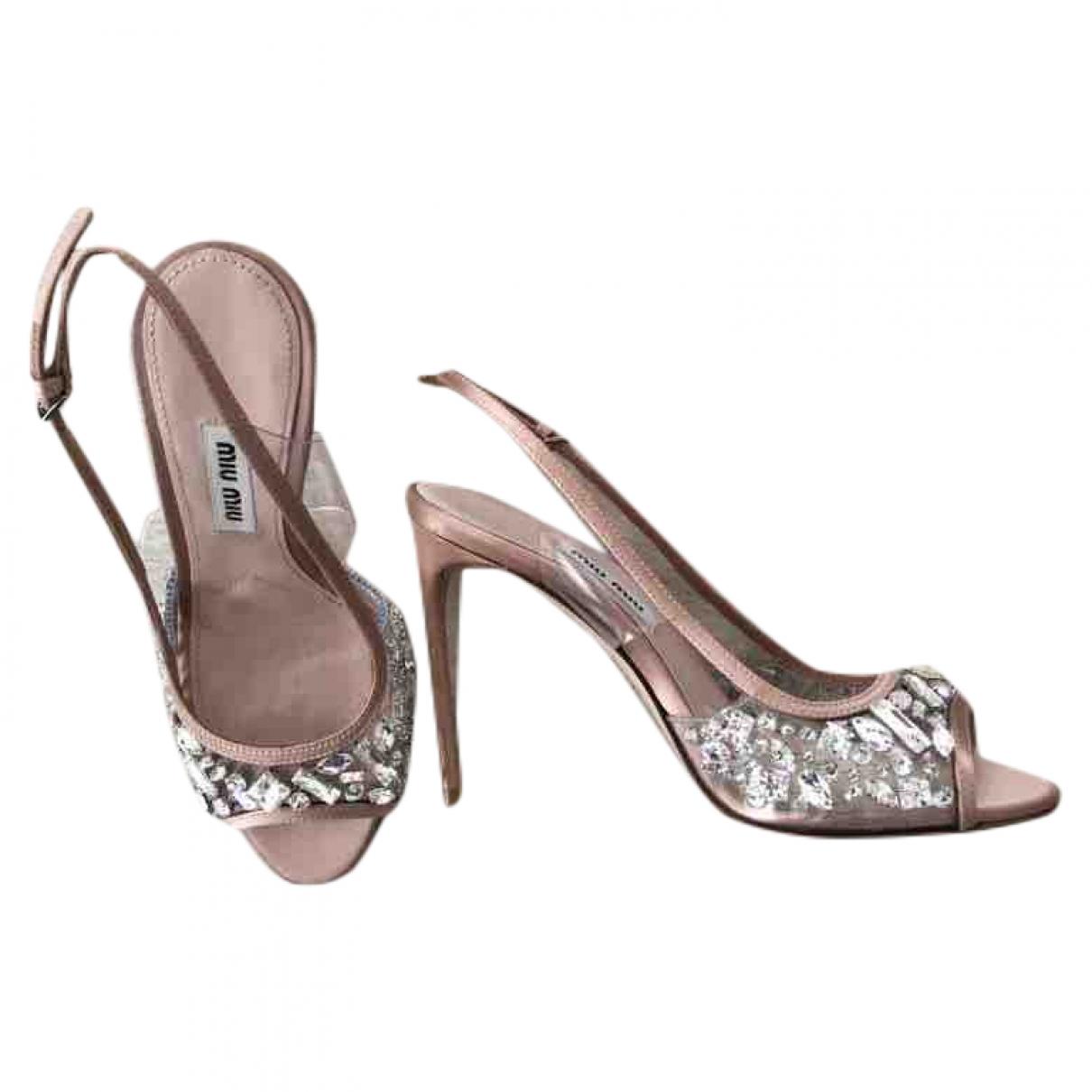 Sandalias de Con lentejuelas Miu Miu