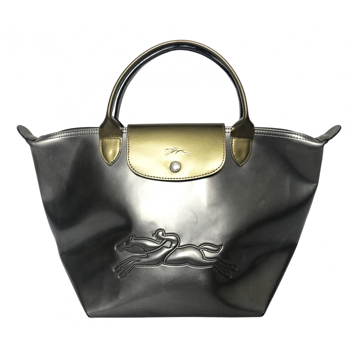 Longchamp N Metallic Patent leather handbag for Women N