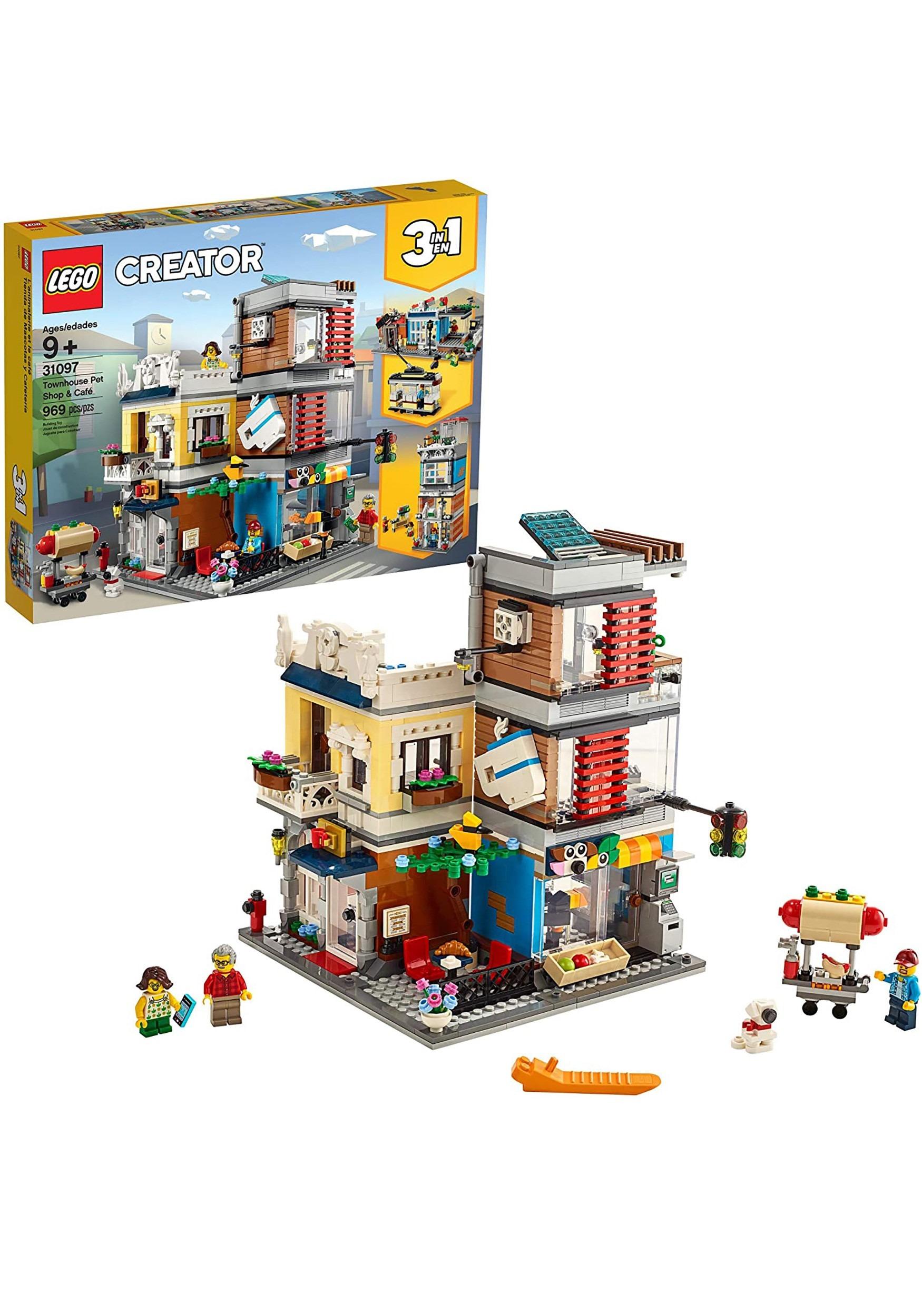LEGO Creator Townhouse Pet Shop & Café Building Set