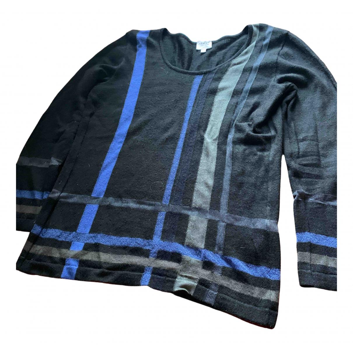 Armani Collezioni - Pull   pour femme en laine - noir