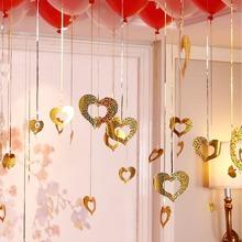 100 piezas decoracion colgante en forma de corazon sin globo