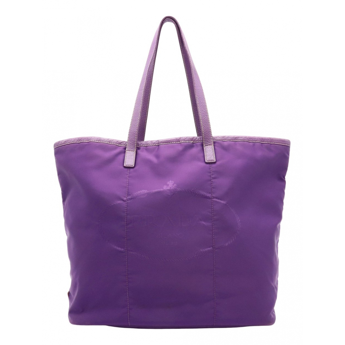 Prada N Purple Cloth handbag for Women N