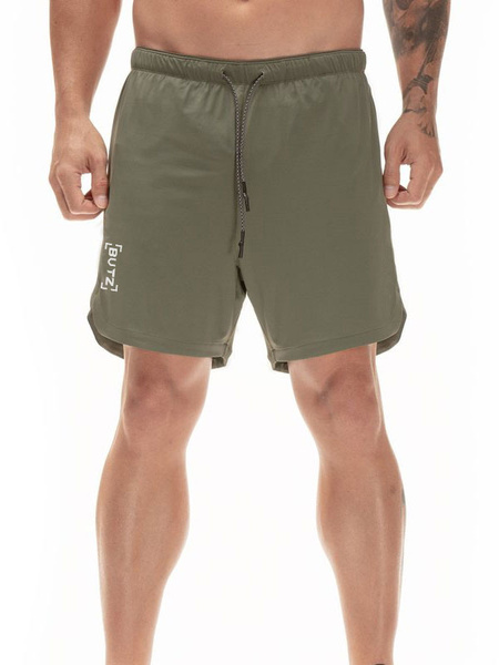 Milanoo Men Workout Shorts 2 In 1 Running Lightweight Gym Yoga Training Sport Short Pants