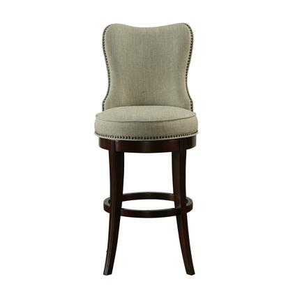 DS-A012-501-163 Nailhead Trim Upholstered 30 Swivel Barstool in Natural