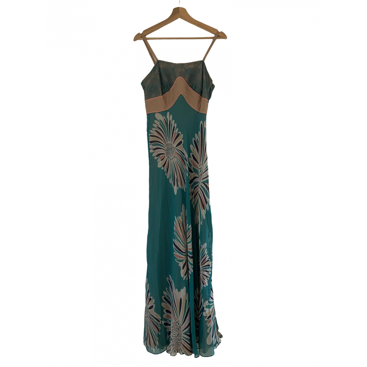 Catherine Malandrino \N Turquoise Silk dress for Women 6 US