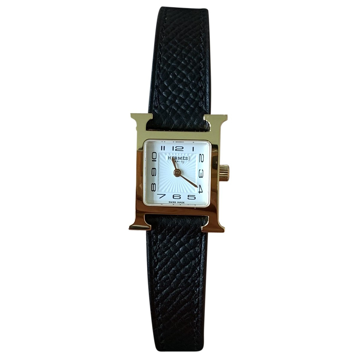 Hermès Heure H Gold plated watch for Women N