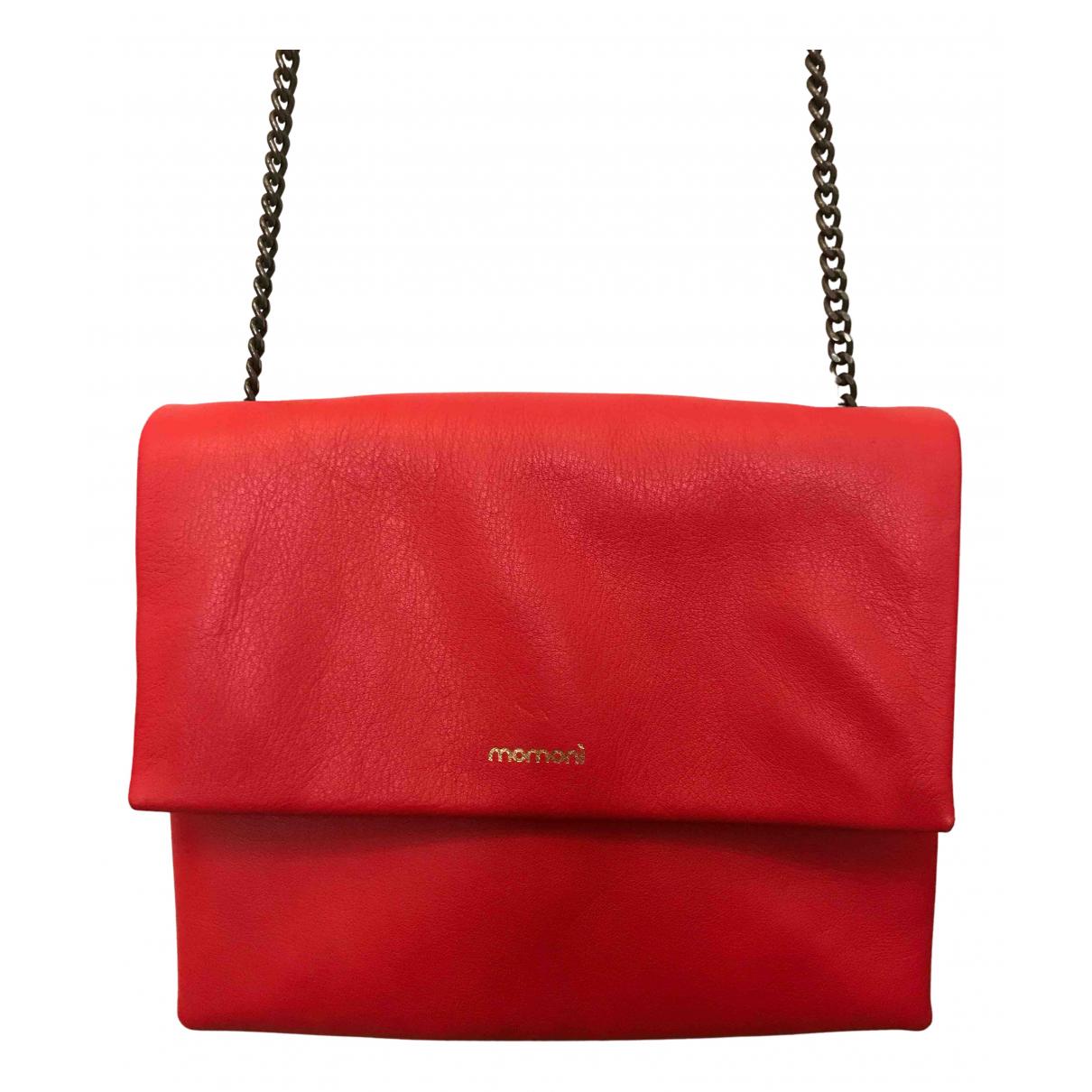 Momoni N Red Leather handbag for Women N