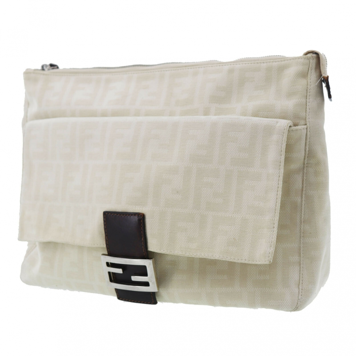 Fendi \N Clutch in  Beige Leder