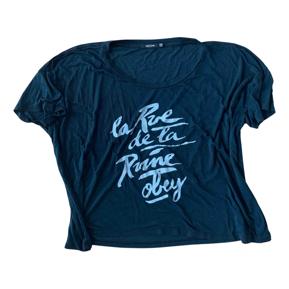 Obey N Blue Cotton  top for Women S International