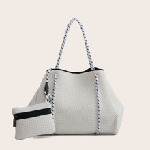Perforated Tote Bag With Inner Pouch