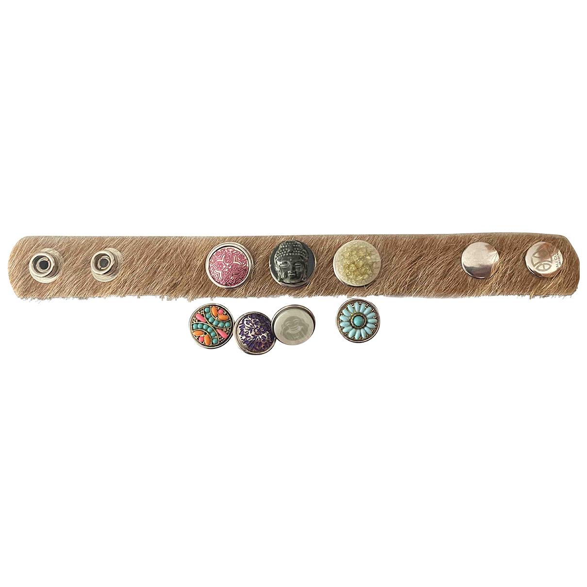 - Bracelet   pour femme en castor - beige