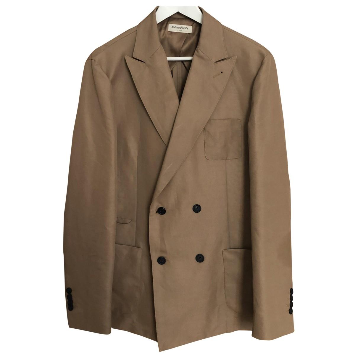 Non Signé / Unsigned \N Beige Cotton jacket  for Men 52 IT