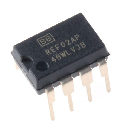 Texas Instruments REF02AP, Fixed Series Precision Voltage Reference 5V, ±0.2 % 8-Pin, PDIP (5)