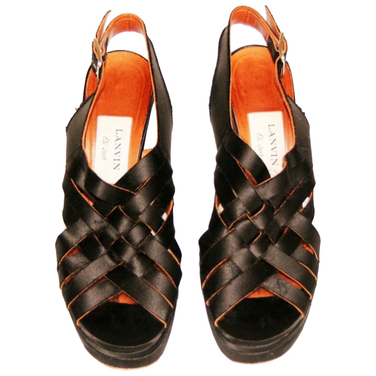 Lanvin - Sandales   pour femme en toile - noir