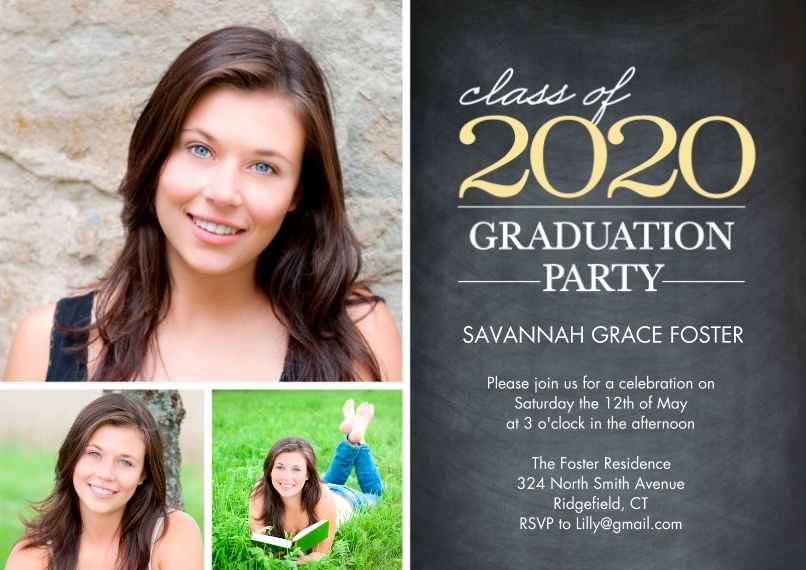 2020 Graduation Invitations 5x7 Cards, Premium Cardstock 120lb with Elegant Corners, Card & Stationery -Graduation 2020 Party by Tumbalina