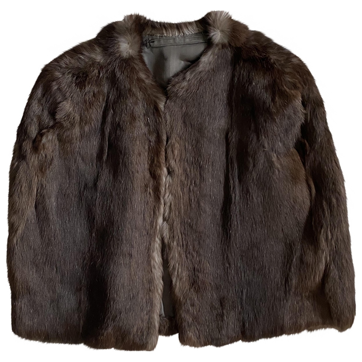 Non Signé / Unsigned \N Brown Rabbit jacket for Women M International