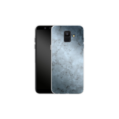 Samsung Galaxy A6 Silikon Handyhuelle - Blue Marble von caseable Designs