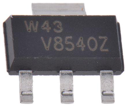 Nexperia PBHV8540Z,115 NPN Transistor, 500 mA, 500 V, 3 + Tab-Pin SOT-223 (10)