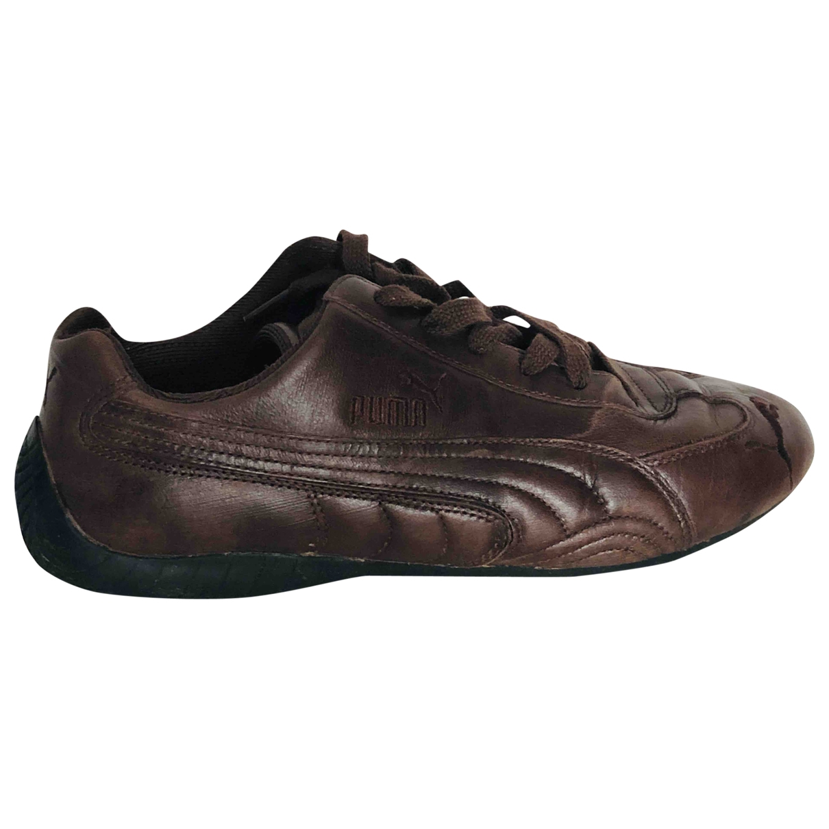 Puma - Baskets   pour homme en cuir - marron