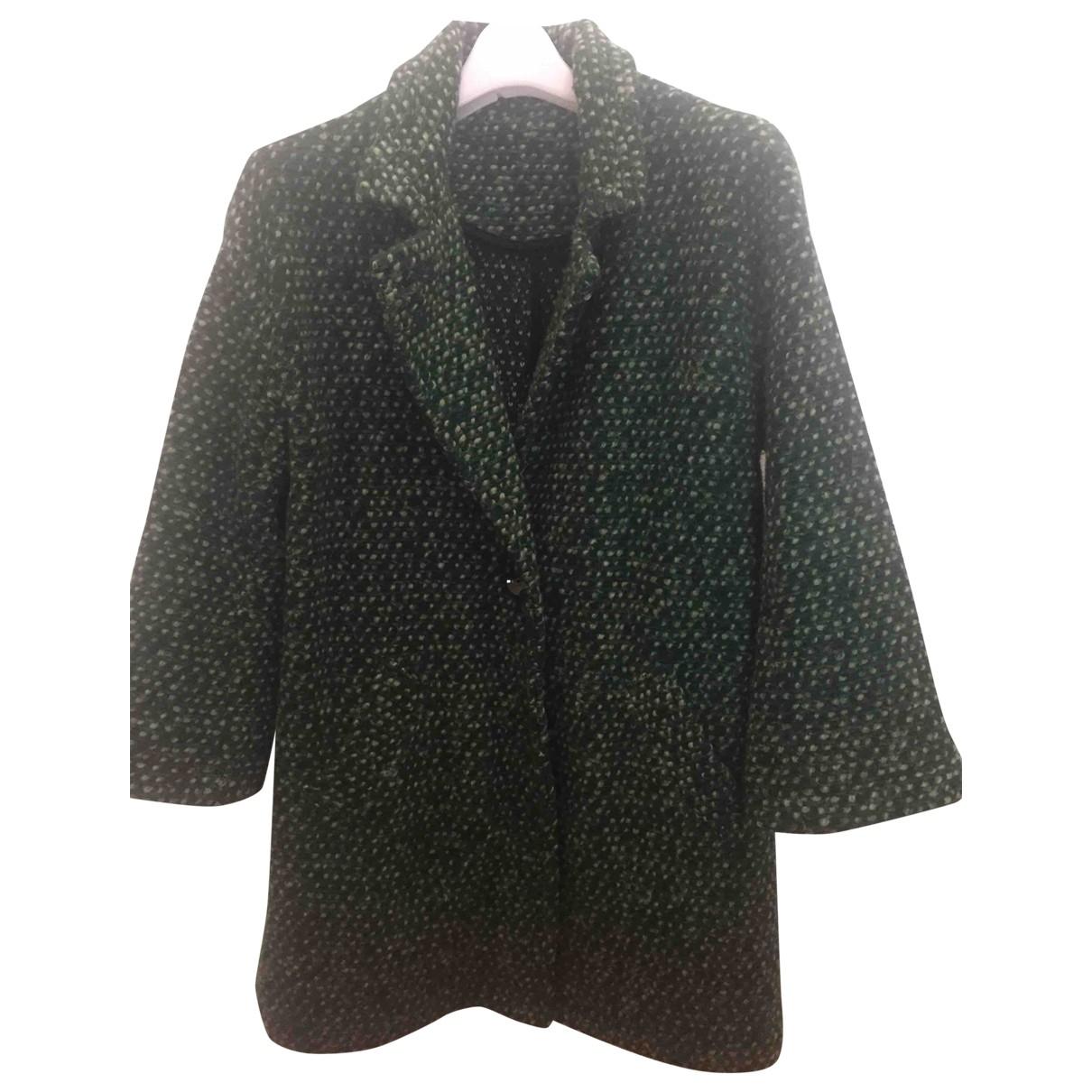 - Manteau   pour femme en laine - vert