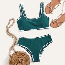 Bikini Badeanzug mit Stich