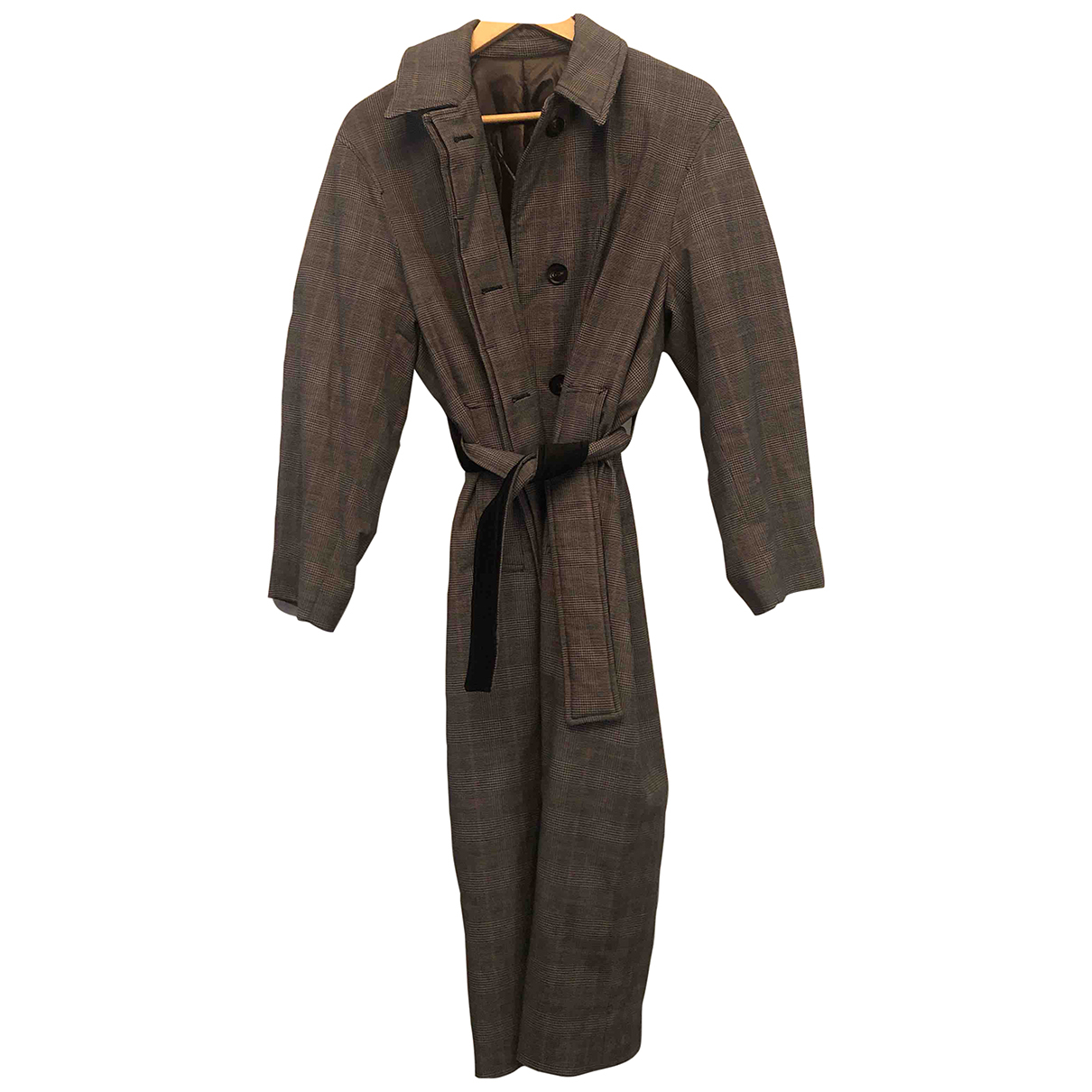 Pringle Of Scotland - Manteau   pour femme en laine - marron