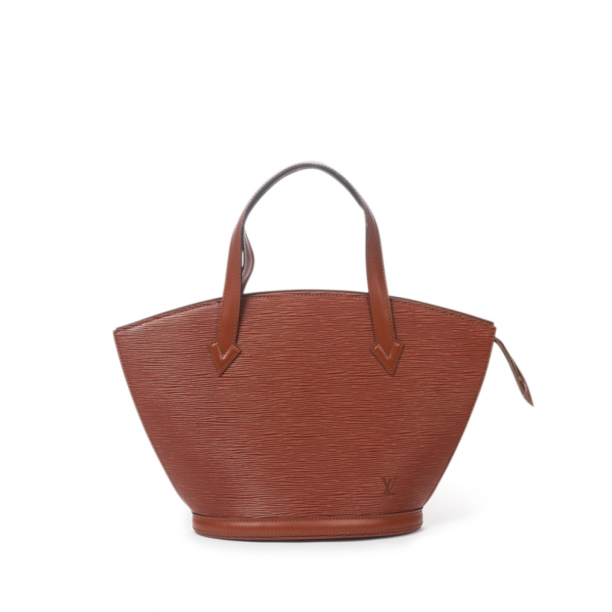 Louis Vuitton - Sac a main Saint Jacques pour femme en cuir - kaki