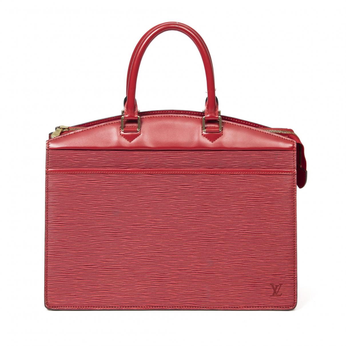 Louis Vuitton Riviera  Handtasche in  Rot Leder