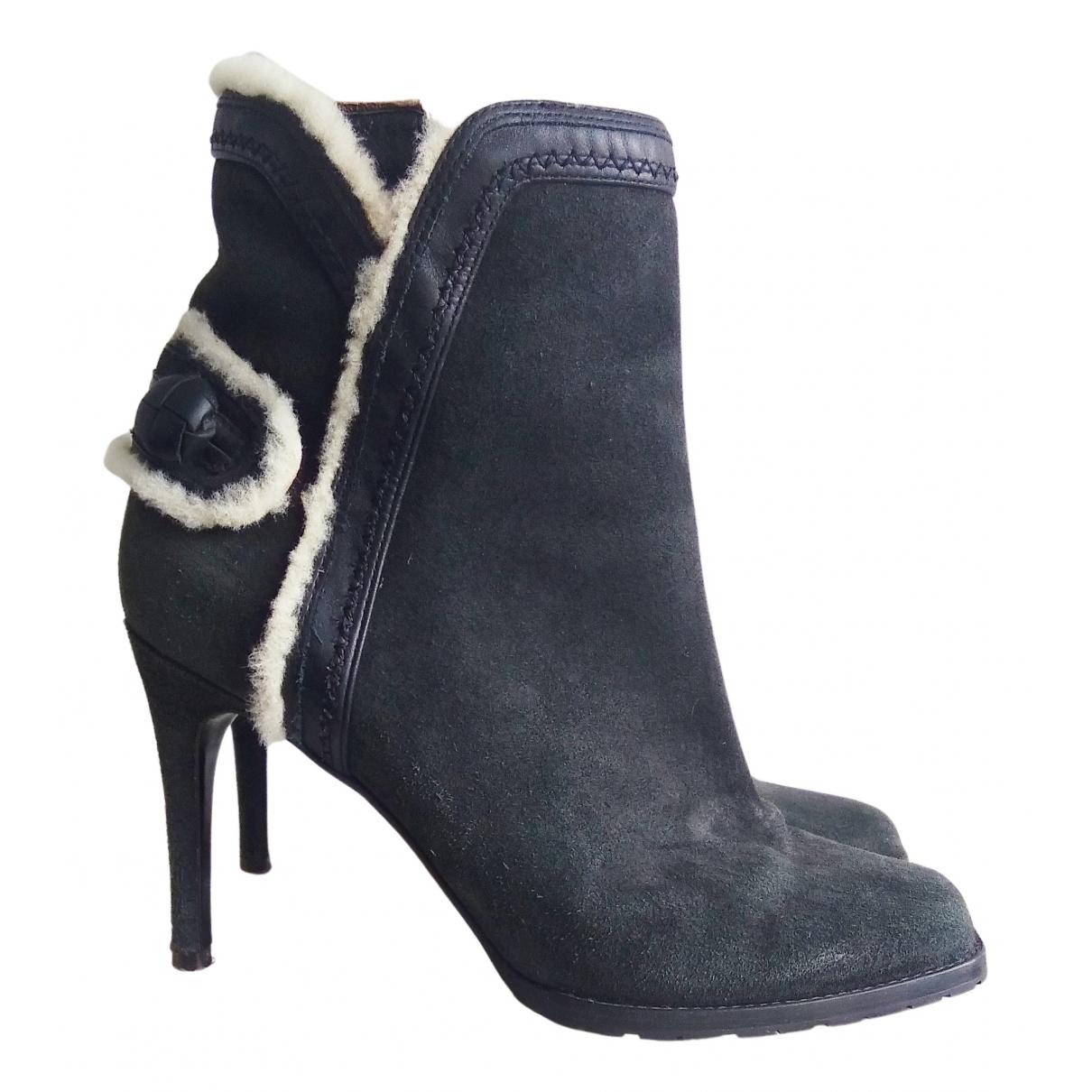 Dsquared2 - Boots   pour femme en suede - gris