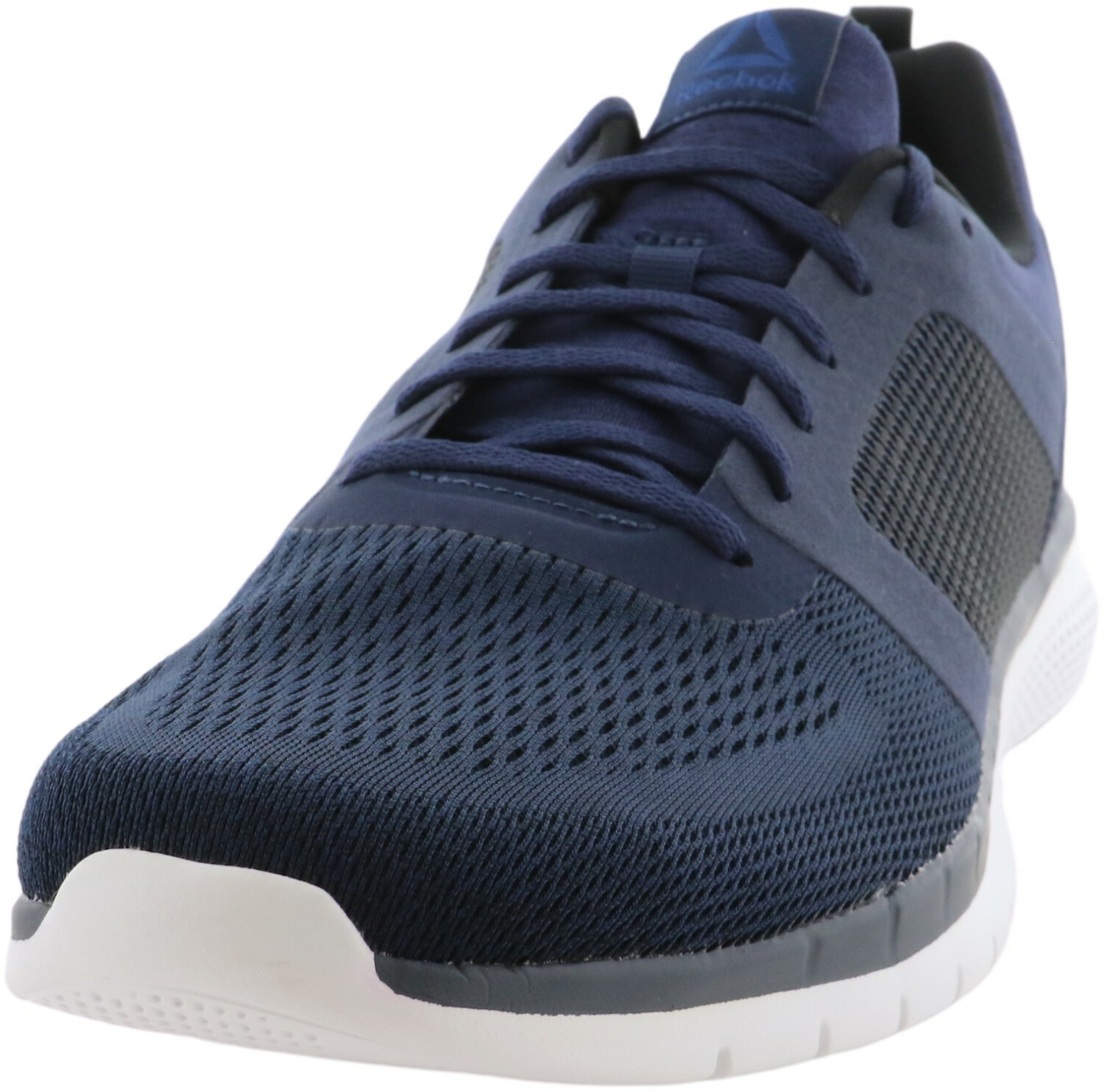 Reebok Men's Pt Prime Run 2.0 Collegiate Navy / Blue Black White Ankle-High Running - 10M