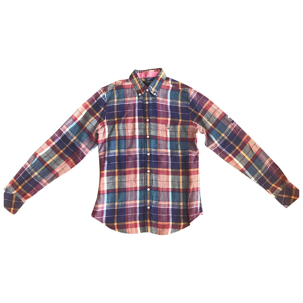 Gant Rugger - Top   pour femme en lin - multicolore