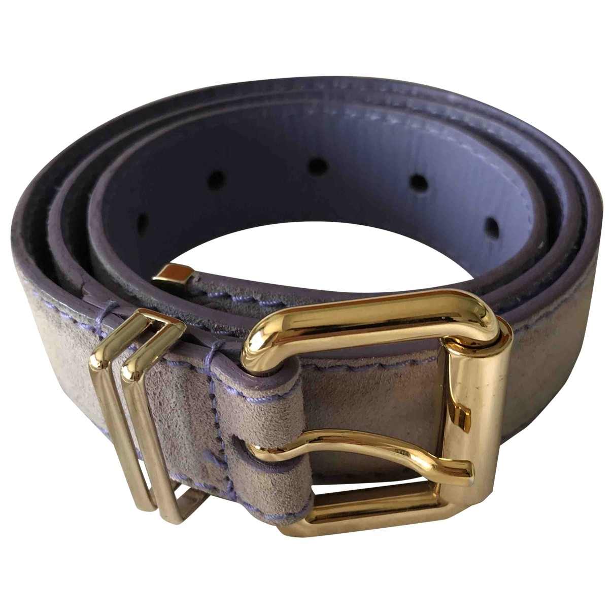 Versace \N Purple Suede belt for Women 75 cm