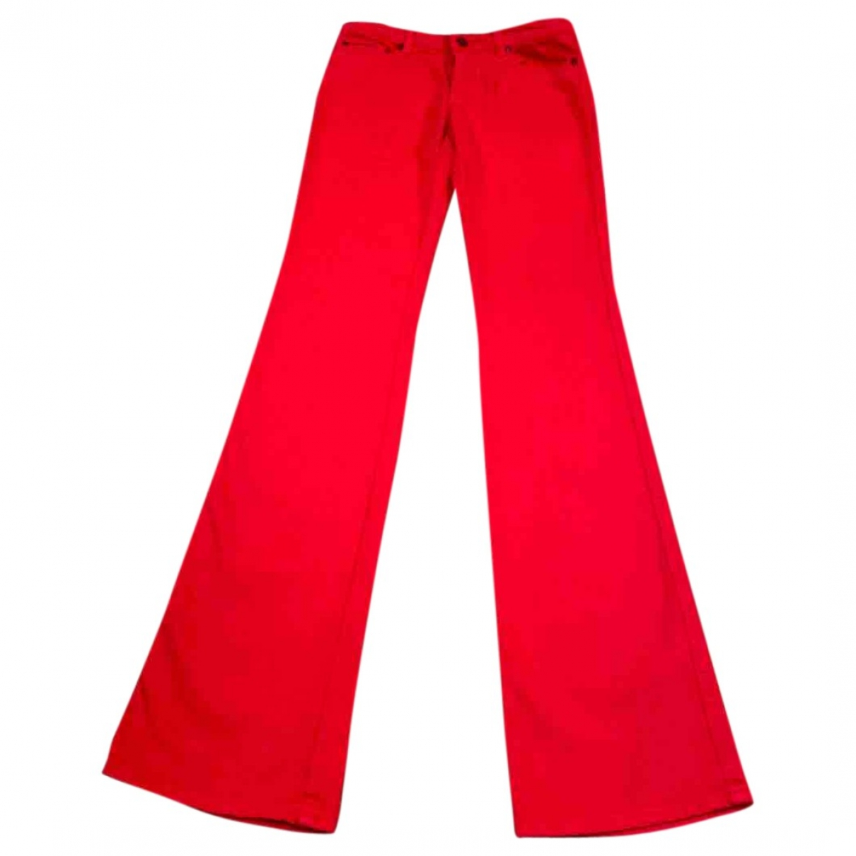 Roberto Cavalli \N Red Cotton Jeans for Women 34 FR
