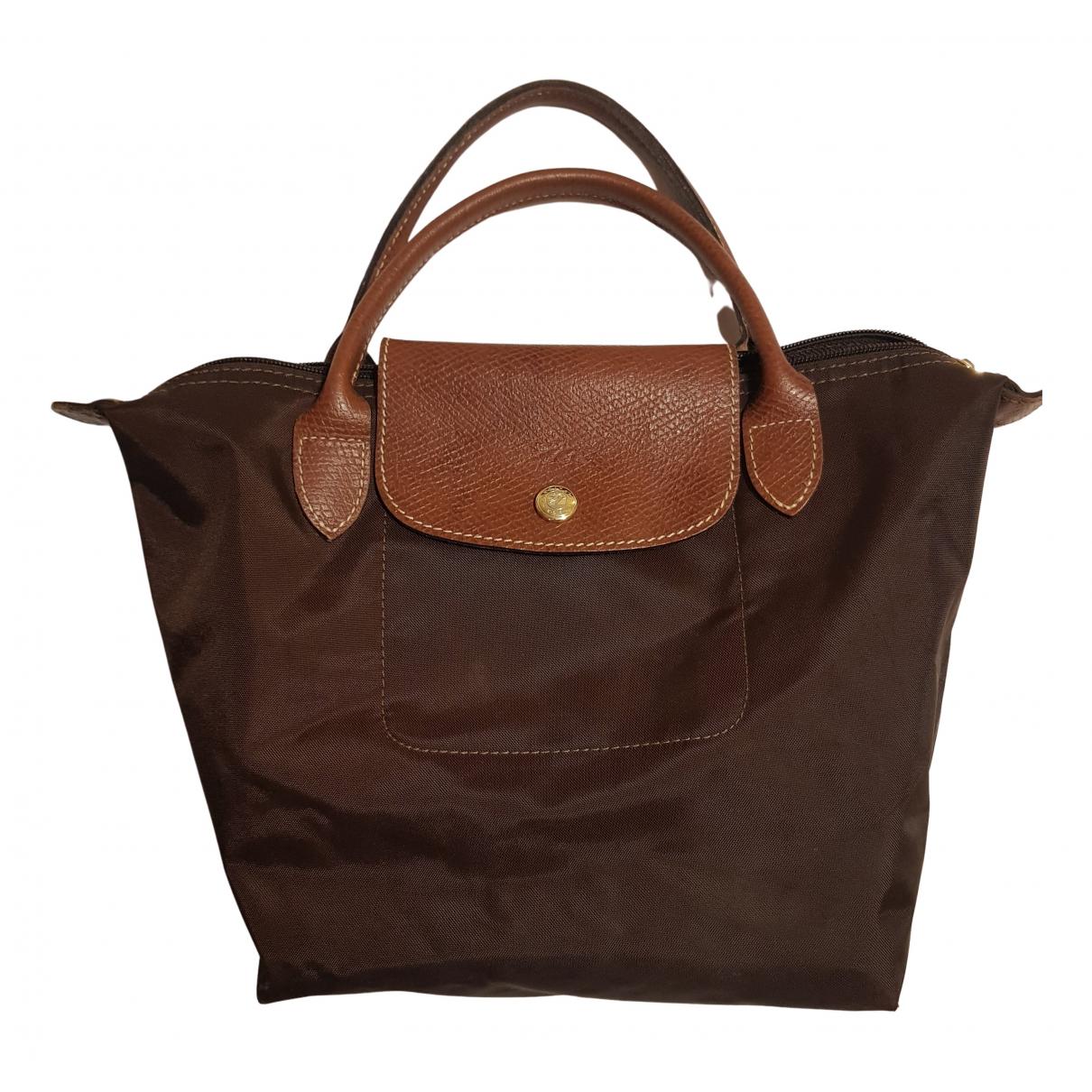 Longchamp Pliage  Brown Cloth handbag for Women N