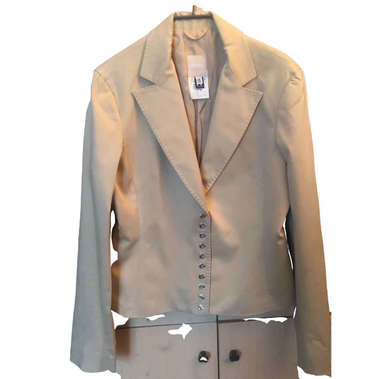Versus \N Beige Cotton jacket for Women 42 IT