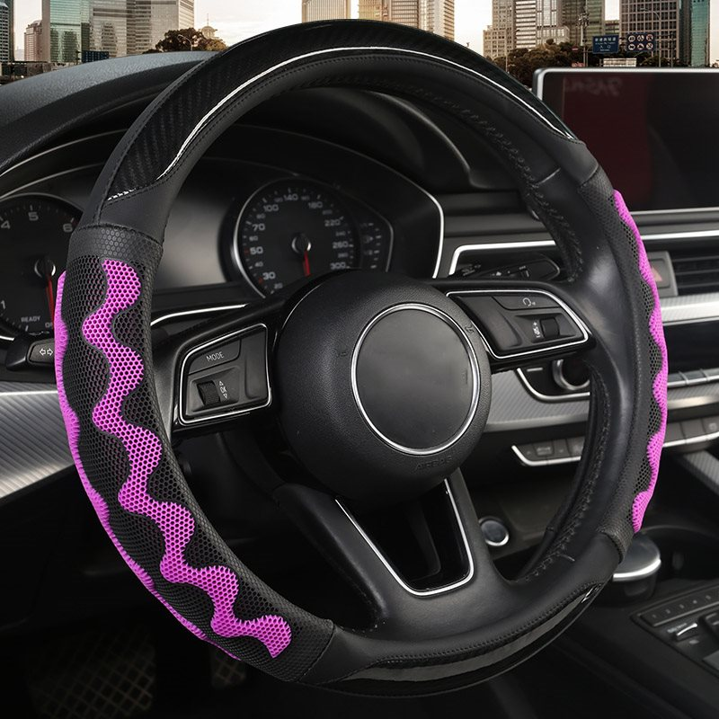 Creative Style High Quality Breathable Fabric Honeycomb Shape Slip Not Hurt Your Hand All Seasons Universal Steering Wheel Covers