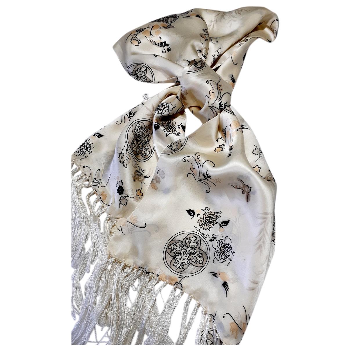 - Foulard   pour femme en soie - ecru