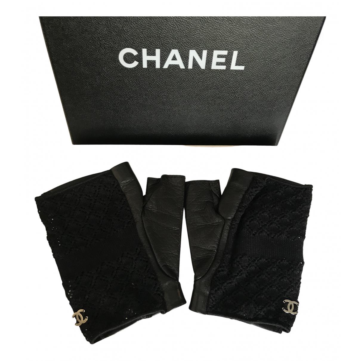 Mitones de Cuero Chanel