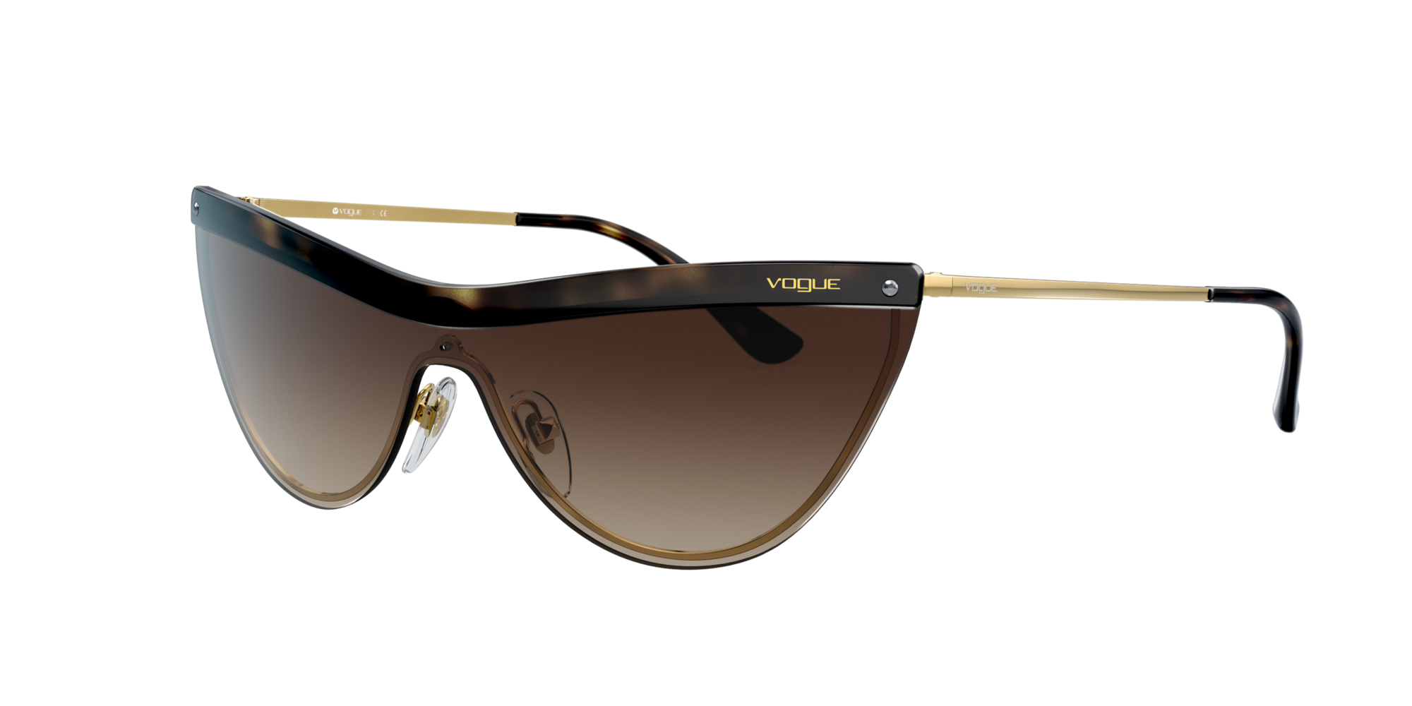 Vogue Eyewear Unisex  VO4148S -  Frame color: Habana, Lens color: Degradadas marron