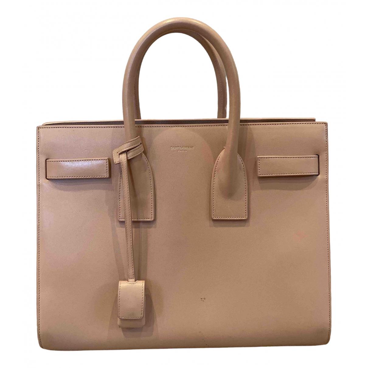 Saint Laurent Sac de Jour Pink Leather handbag for Women N