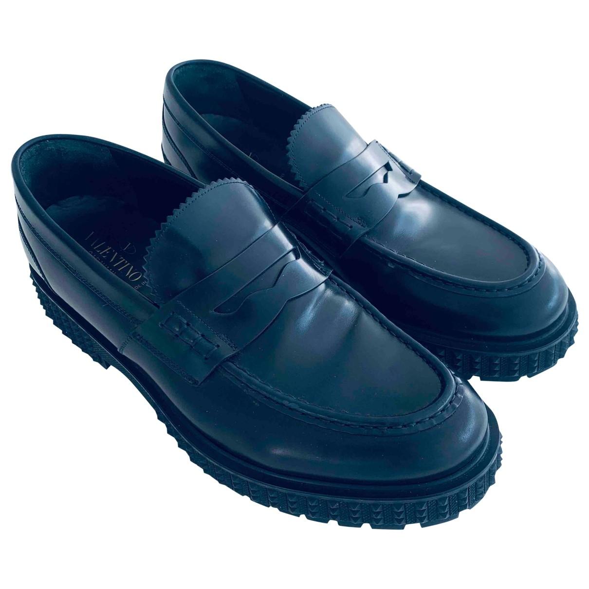 Valentino Garavani \N Black Leather Flats for Men 43 EU