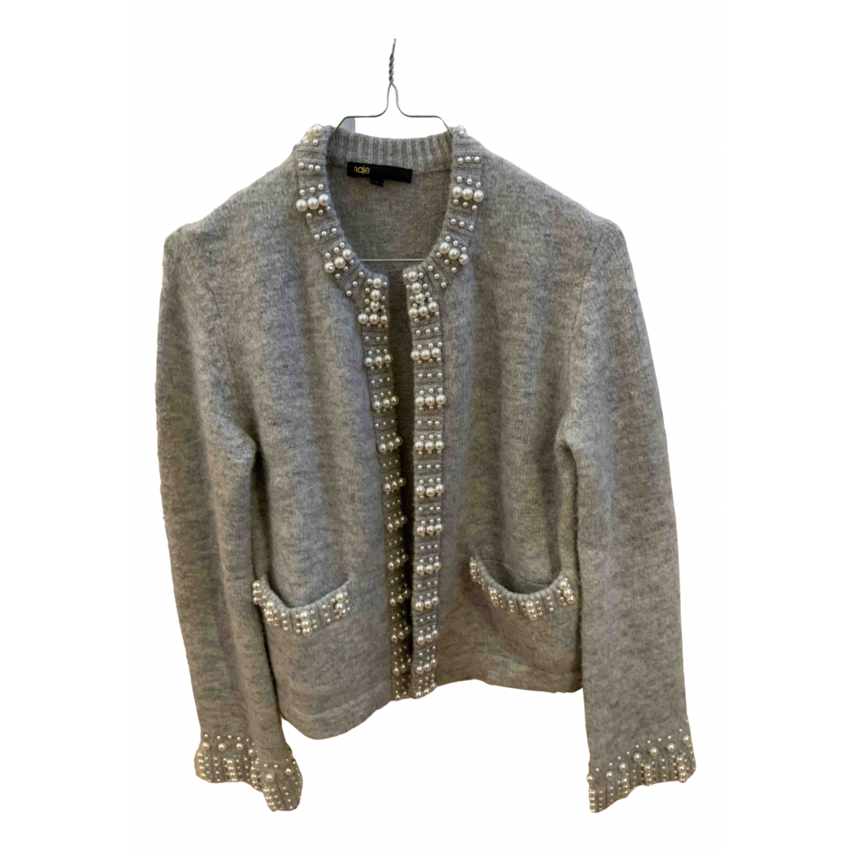 Maje \N Pullover in  Grau Wolle