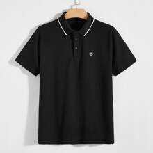 Men Patch Detail Polo Shirt