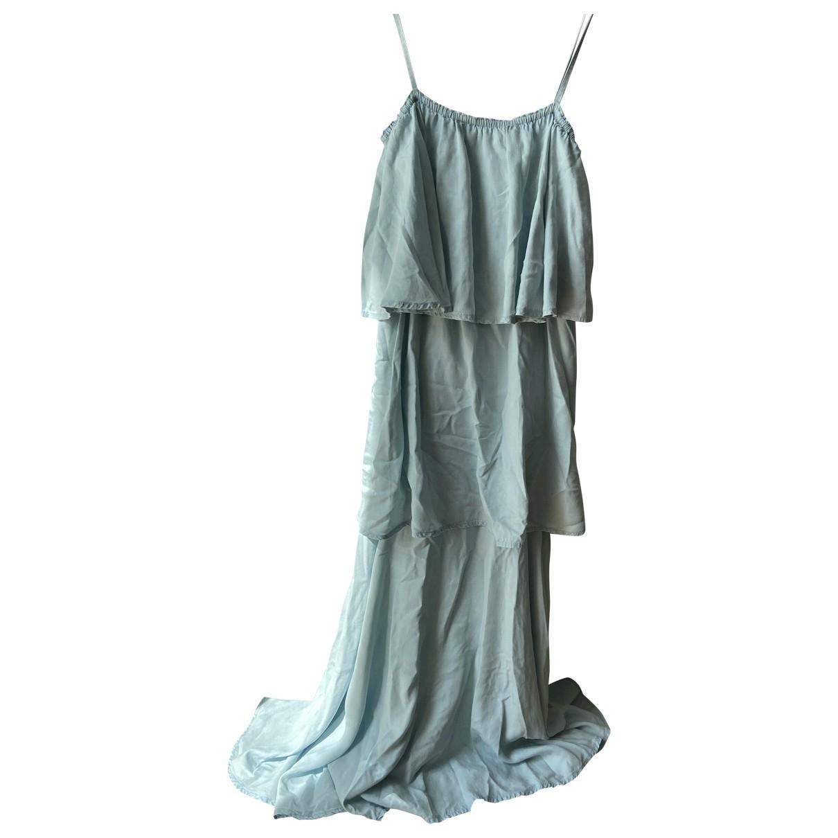 Raey \N Kleid in  Blau Baumwolle